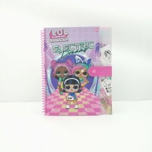 LOL Design album ,LOL spiral notebook with closure ,LOL  creative notebook ,LOL activity book,Disney Design album ,Disney spiral notebook with closure ,Disney  creative notebook ,Disney activity book