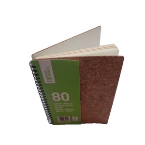Spiral Notebook with cork cover