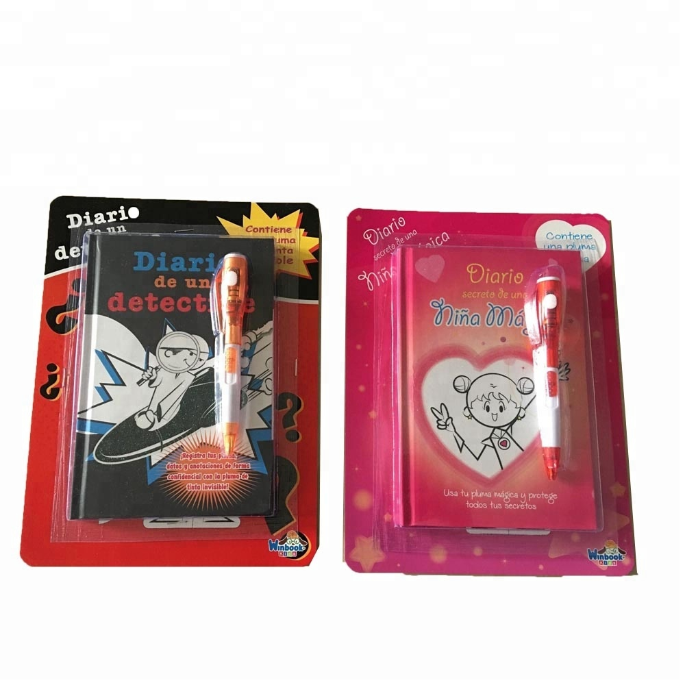 Diary notebook with magic pen set