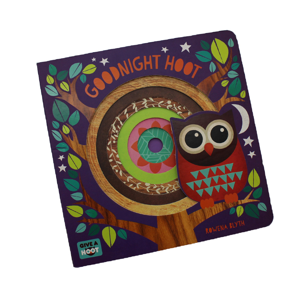 Creative die-cut hardcover story book for kids