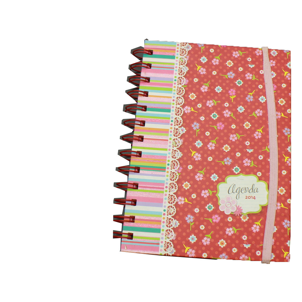 A5 promotional custom spiral hardcover notebooks with elastic band