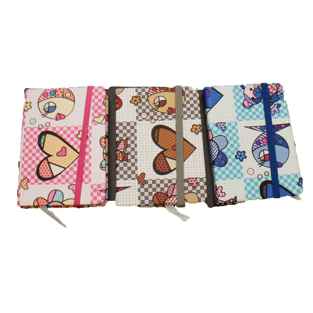 Fashion PU notebook several colors assorted