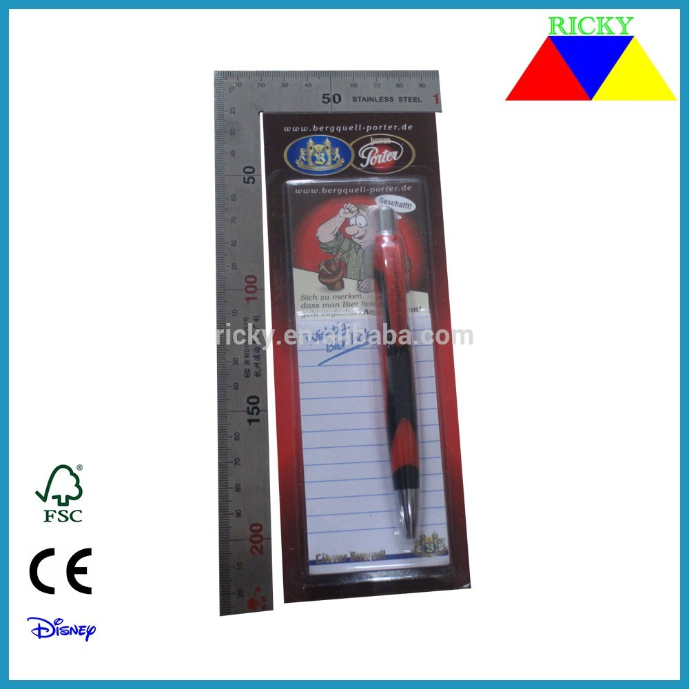 ST-R003 promotional stationery set magnetic notepad with pen