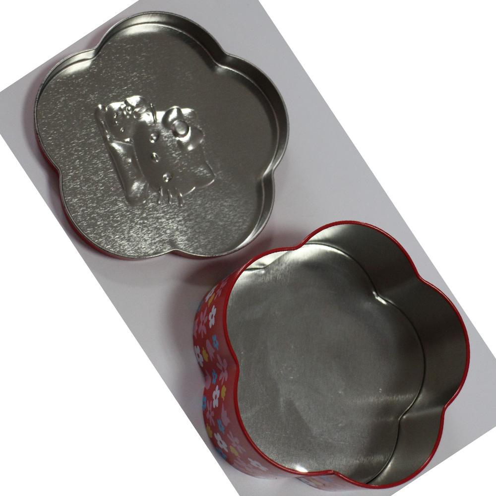 Factory Cheap Hot Sketching Art Protfolio Set - Flower shaped chocolate gift tin box; small tin box custom logo tin box – Ricky Stationery