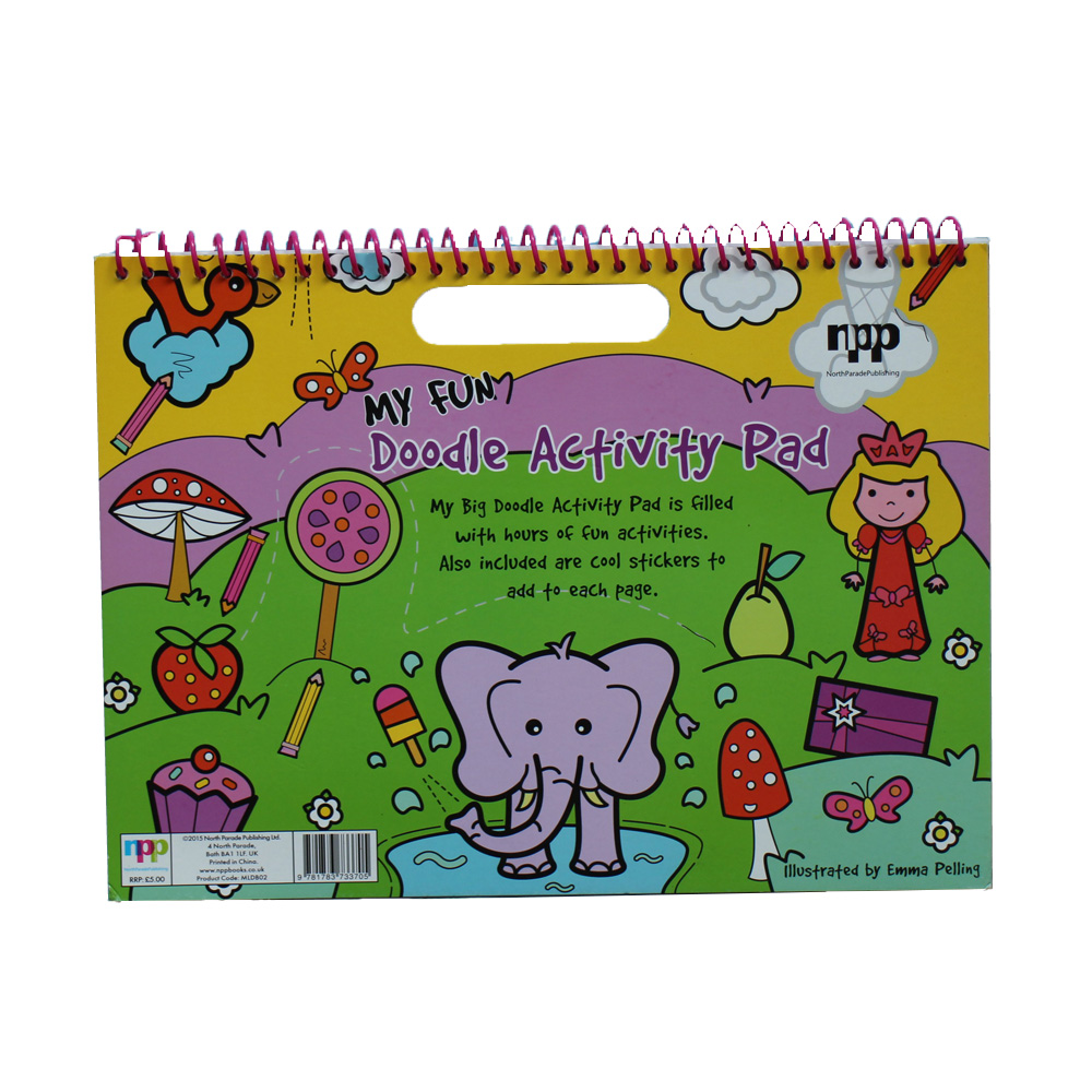 Fantastic drawing notebook with stickers for child/kids