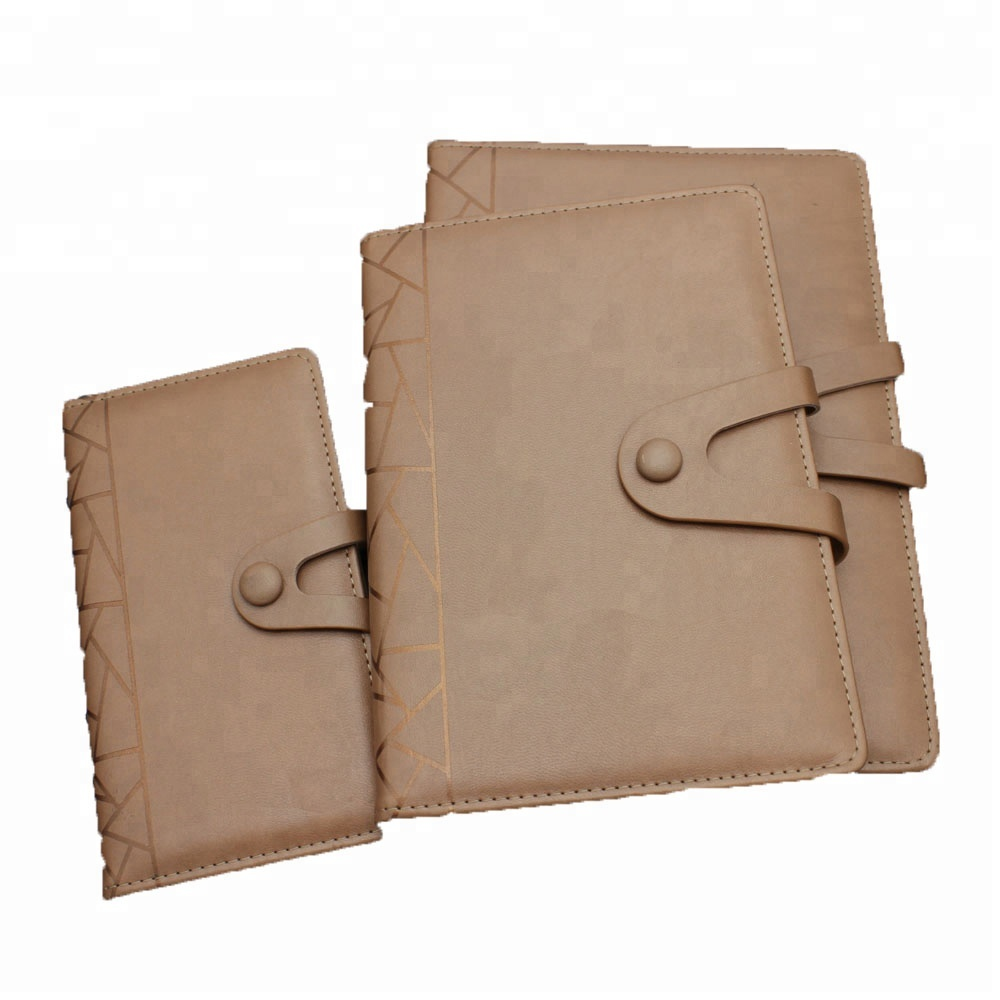 Classic pu notepad,notebook with fabric cover and round corner