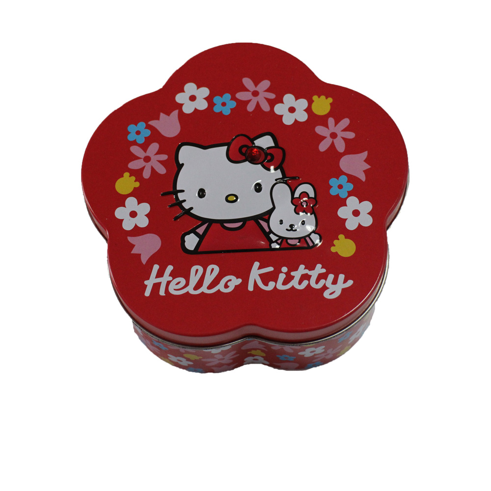 Flower shaped chocolate gift tin box; small tin box custom logo tin box