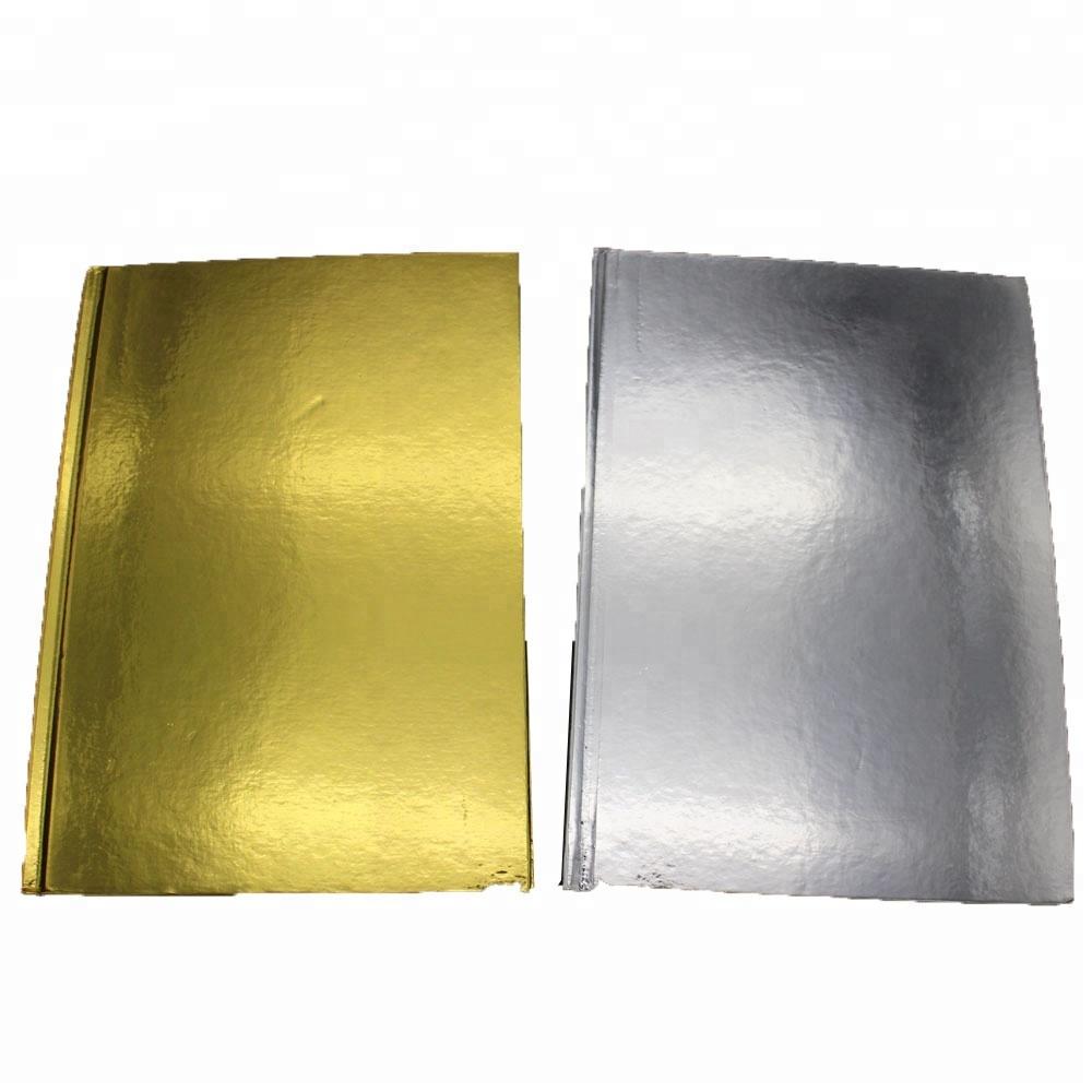 2017 Latest Design Notebook Korean Stationery - NB-R022 gold or silver foil cover glued notebook FSC – Ricky Stationery