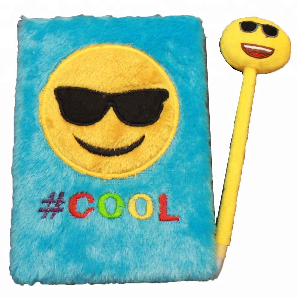 emoji Stationery plush Notebook Journal for children Great Party Favors